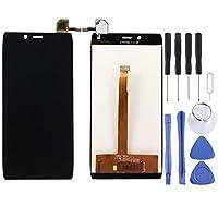 アルカテルワンタッチアイドルX / 6032 / OT-6032交換部品用LCDスクリーンおよびデジタイザーフルアセンブリ(ブラック) ハイクオリティ (色 : Black)