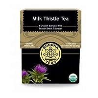 Milk Thistle Tea - Organic Herbs - 18 Bleach Free Tea Bags by Buddha Teas