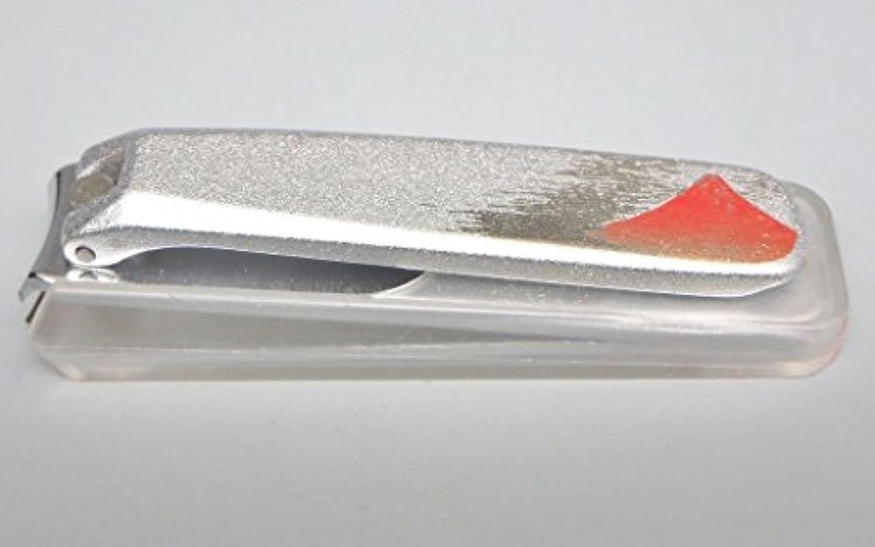 文明化するインストラクターデッキ高級 加賀蒔絵 爪きり  日本製 岐阜県関産 銀 赤富士 紅富士