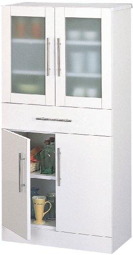 クロシオ カトレア食器棚 60-120 ホワイト 幅60cm奥行38cm高さ120cm