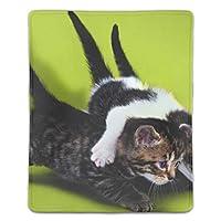マウスパッド 滑り止めゴム底 耐洗い表面 耐久 ネコ 180X220X3mm