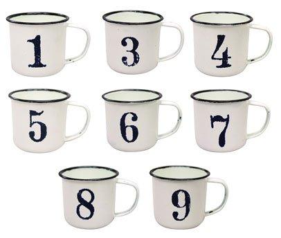 気取らないシンプルなマグでコーヒーブレイク♪ 【ナンバーマグカップ】1~9まで!アメリカン雑貨アメリカ雑貨 (1)