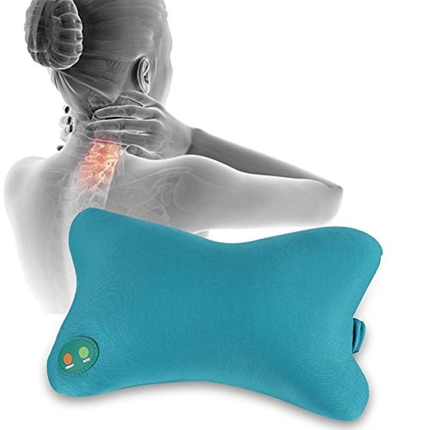 バックグラウンドうんざりむちゃくちゃ首の混練の柔らかい枕電気マッサージャー、携帯用通気性の柔らかい泡の枕振動マッサージの苦痛救助