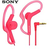 Sony Extra Bass Active Sports in Ear Ear Bud Over The Ear Splashproof Premium Headphones Deep-Pink (Limited Edition)