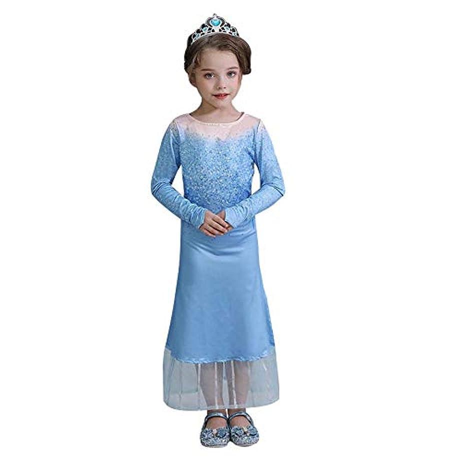 スライムおびえた気配りのある子供 用 プリンセス ドレス コスチューム アナと雪の女王 子供用ドレス ティアラセット コスプレ なりきり