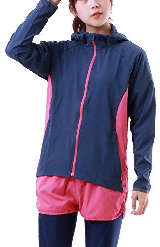 ICEPARDAL(アイスパーダル) レディース ランニング ジャケット & パンツ 上下2点セット IRN-SET IRN-02(NV_PK*PK) WLサイズ ジョギング スポーツウェア ランニング ウェア ランパン ランニングウェア