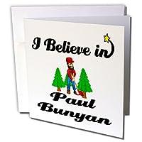 Dooni Designs I Believe In–I Believe Inポール・バニヤン–グリーティングカード Set of 6 Greeting Cards