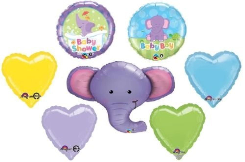 loonballoon Elephant Ellieジャングルサファリ動物園Boyベビーシャワーパーティー( 7 )動物マイラーバルーン