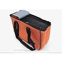 SHENYUAN-ハンドバッグ ペットアウトポータブル軽量ケージバッグペット用品 (Color : Orange, Size : M)