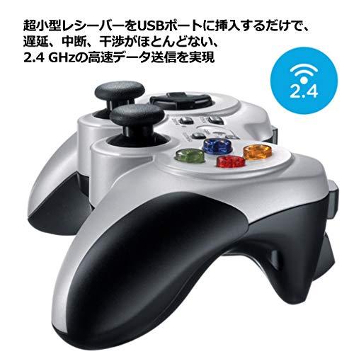 『Logicool G ゲームパッド ワイヤレス F710r シルバー PC ゲームコントローラー FF14推奨 Xinput F710 国内正規品 2年間メーカー保証』の2枚目の画像