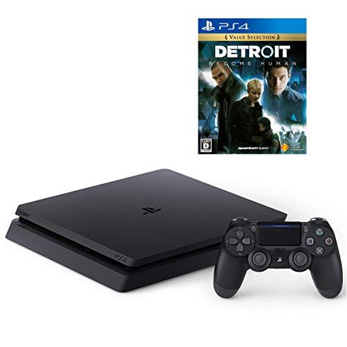 PlayStation 4 ジェット・ブラック 1TB  + Detroit: Become Human セット【Amazon.co.jp特典】オリジナルカスタムテーマ (配信)