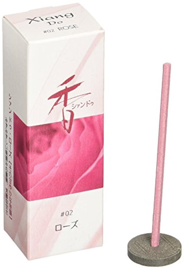 牛風まつげ松栄堂のお香 Xiang Do(シャンドゥ) ローズ ST20本入 簡易香立付 #214202