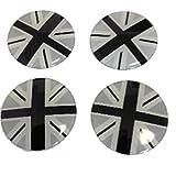 BMW MINI ホイール センターキャップ シール 4枚 セット (ブラックユニオンジャック)