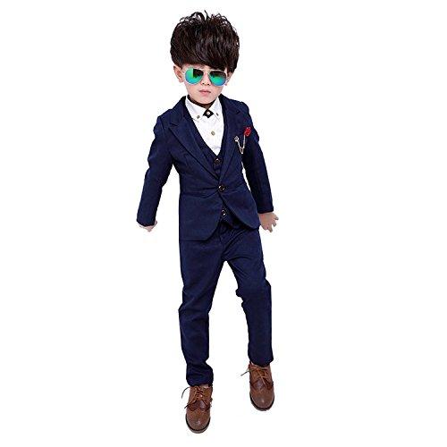 子供スーツ 子供 男の子フォーマル ジャケットベスト ズボン3点セット 子供服 洋服キッズ ...