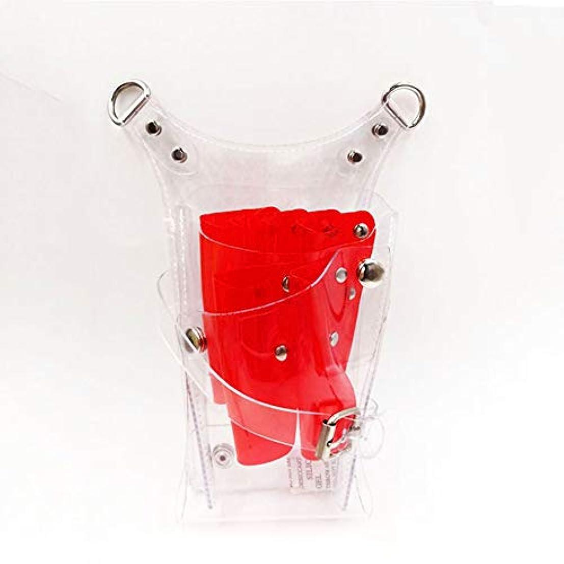 ムスタチオ引き算寄生虫CAMOAR シザーケース 透明 クシ ハサミ収納 クリアケース 美容師 トリマー プロ仕様 個性的 レッド