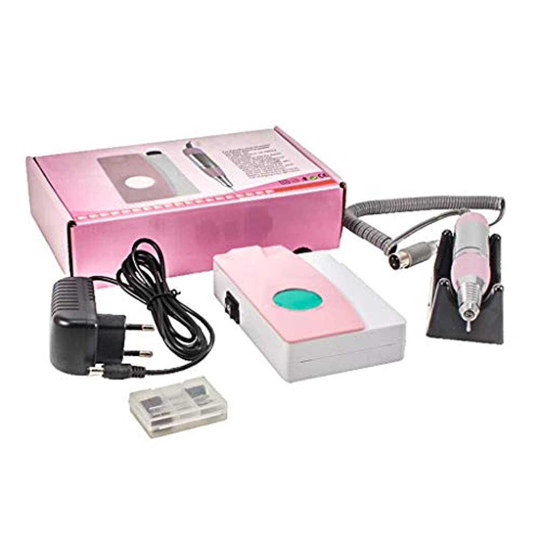 ベックストランクライブラリキリン電気ネイルファイルドリルマシン、ディスプレイスクリーン、ポータブルコードレス12Vのドリルビット付き充電式研磨機、プロ用または家庭用ネイルアート機器25000 RPM