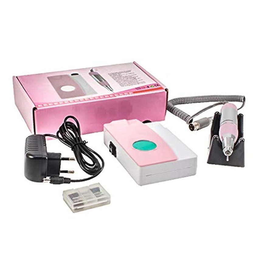 強い耐久温度計電気ネイルファイルドリルマシン、ディスプレイスクリーン、ポータブルコードレス12Vのドリルビット付き充電式研磨機、プロ用または家庭用ネイルアート機器25000 RPM