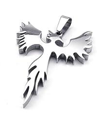 [テメゴ ジュエリー]TEMEGO Jewelry メンズステンレススチールヴィンテージペンダントゴシックポリッシュEagleネックレス、シルバー[インポート]
