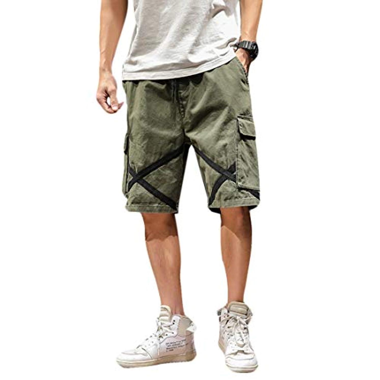形成ストレッチ無効WE&energy メンズカジュアルハーレム膝の長さ夏プラスサイズ貨物ショーツ