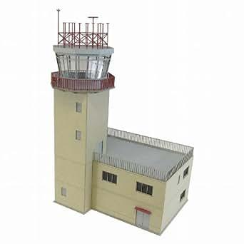 さんけい 1/144 航空情景シリーズ 管制塔type-A ペーパークラフト