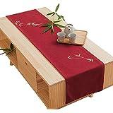 テーブルランナー ホームデコレーション 北欧 刺繍 工芸品 モダン おしゃれ 長方形 エレガント 装飾 (Size : 30×240cm)