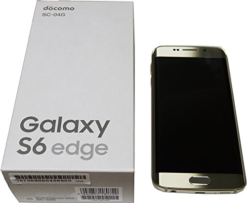 SAMSUNG docomo版 GALAXY S6 edge SC-04G Gold platinum「ゴールド」 白ロム