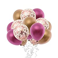 D DOLITY 紙吹雪風船 バルーン リボン パーティー 装飾 写真小物 5色選べ - E