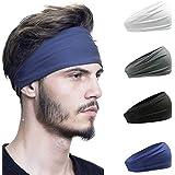 HeyFive Sports Headbands for Women&Men Workout Hairbands Elastic Sweat Bands Tennis Yogo Running