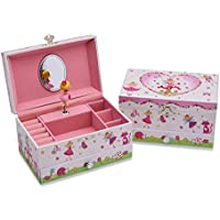 Lucy Locket Enchanted Fairy Tale Kids Musical Jewellery Box for Children - Glittery Kids Musical Box with Ring Holder