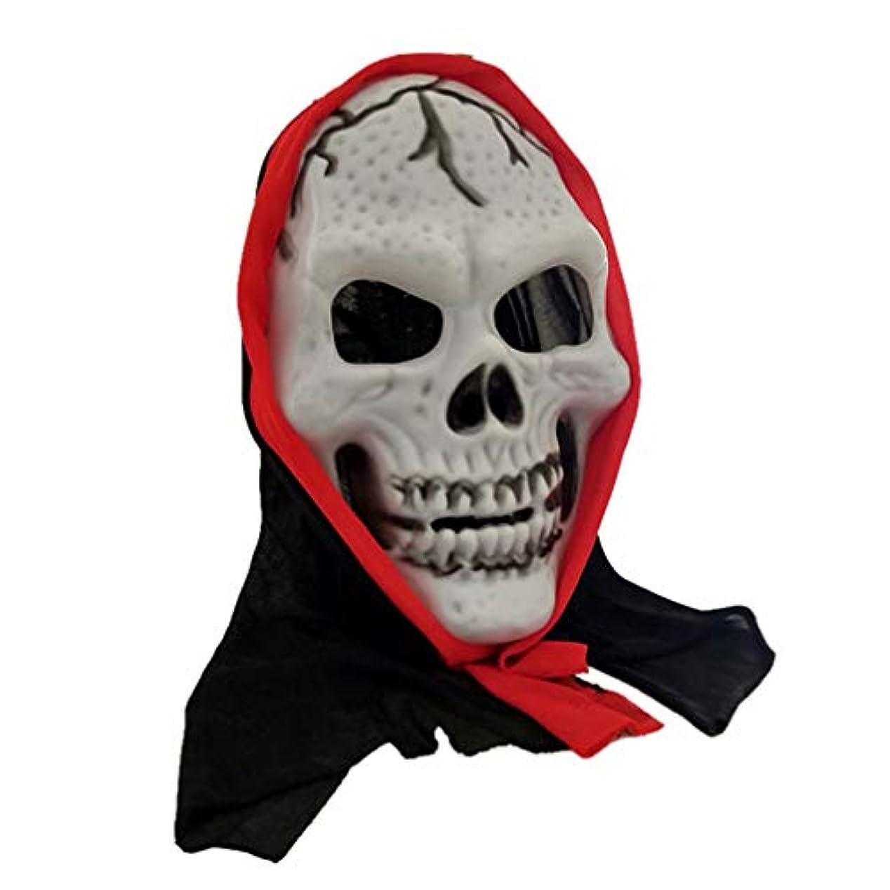 敵対的呼び出す考えるVosarea ハロウィン怖いスケルトンスカルマスク衣装小道具ドレスアップアクセサリー用パーティーカーニバル2ピース