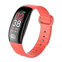スマートウォッチスマートブレスレットECG心拍数血圧モニタリングデータ分析リモートケアスポーツブレスレットアンドロイドとIOSに適して (色 : Red)