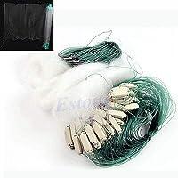 Kimmy 浮遊物が付いている45mの長く明確で白い緑の単繊維の釣り魚のえらの網 映像ショーとして
