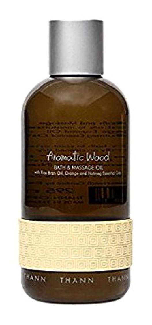 クリケット狭い好意タン バス&マッサージオイルAW (Aromatic Wood)295ml