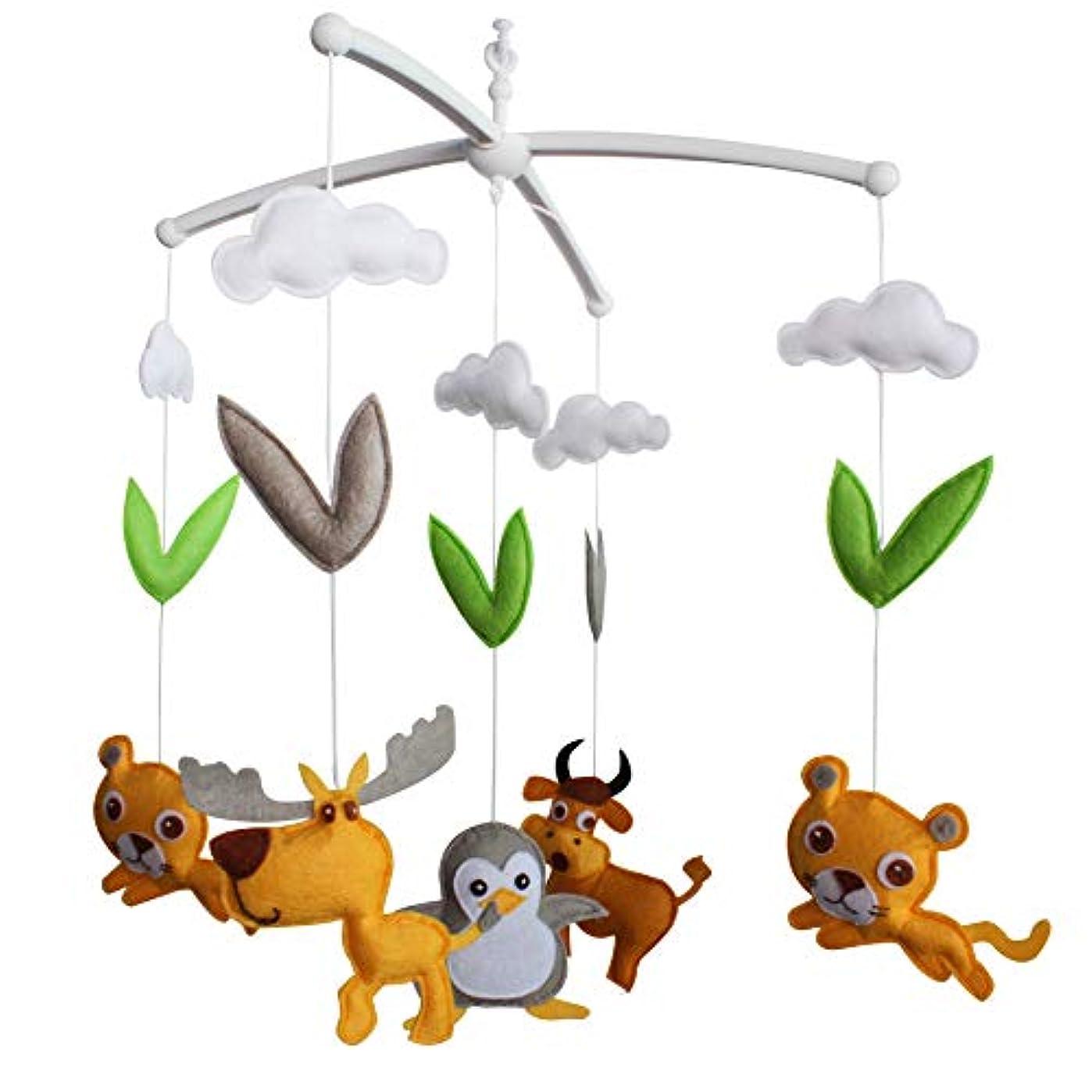 リクルート南アメリカマチュピチュかわいい動物ベビーベッドの装飾ベビーベッドデコレーション新生児ギフト不織布ミュージカルモバイル