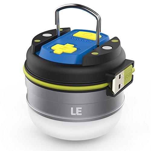 LE USB充電式 LEDランタン 3000mAhバッテリー内蔵 防水仕様 ...