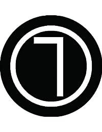 家紋シール 丸に曲尺紋 布タイプ 直径40mm 6枚セット NS4-0495