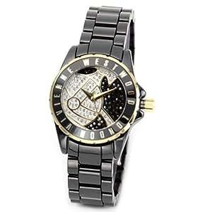 [ヴィヴィアンウエストウッド] Vivienne Westwood 腕時計 レディース パヴェストーン オーブモチーフ ブラックカラー VV088SGDBK [並行輸入品]