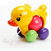 yuyugo Baby Walk AlongおもちゃPush Pull Toy For Toddler Learningウォーカー、Yellow Duck
