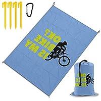 私の自転車は大丈夫ですか レジャー旅行シートピクニックマット防水145×200センチ折りたたみキャンプマット毛布オーニングテントライトと収納が簡単ポータブル巾着