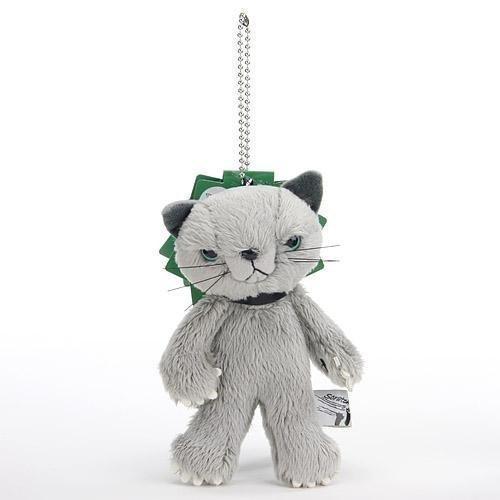 RoomClip商品情報 - スクラッチ マスコットぬいぐるみ 猫 高さ10cm グレイ