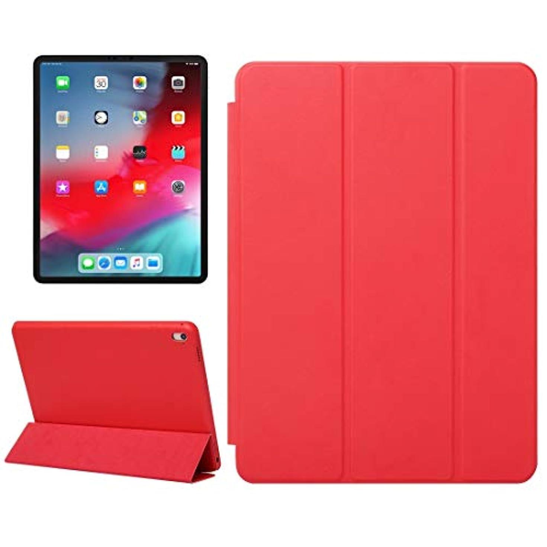 分類長椅子駐地IPad Pro 11インチ用水平フリップソリッドカラーレザーケース(2018)、折りたたみ式ホルダー&ウェイクアップ/スリープ機能付き、iPad Pro 11インチ用レザーケース(2018) AXRXMA (色 : 赤)