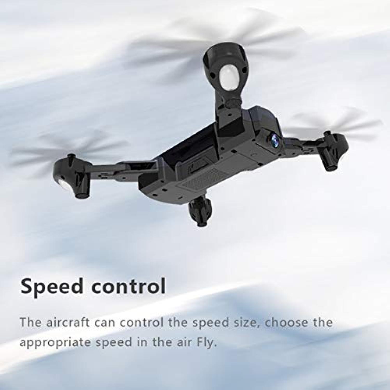 F196オプティカルフローローカリゼーション2.0MP HDカメラ付き折りたたみ式クワッドコーンRCドローン1100mAhバッテリーヘッドレスモード航空機(カラー:グレー)