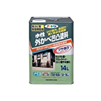 アサヒペン 水性外かべ凹凸塗料 アイボリー 14L 【まとめ買い3缶セット】