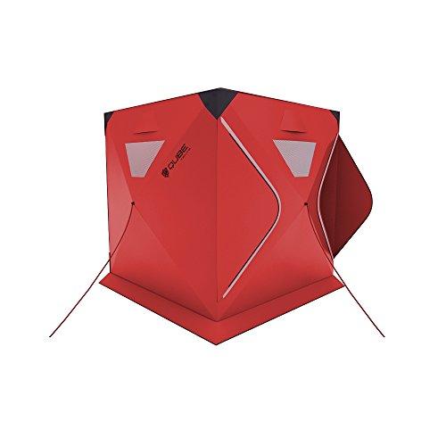 Qube「キューブ」|まるで折り紙のように簡単に設置/折りたたみ可能なクイックピッチテント (レッド, 3人用)