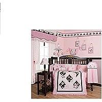 GEENNYブティック13ピースベビー寝具セット、ピンクの蝶
