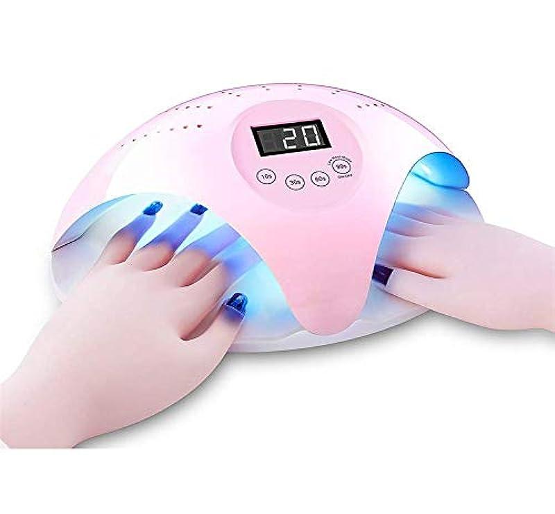 判決コウモリ投げるダブルハンドUVネイルランプ、LEDネイルドライヤー速乾性LED UVネイル乾燥ランプ、指の爪と足の爪、ホーム、サロンマニキュア/ペディキュア硬化ランプに適しています