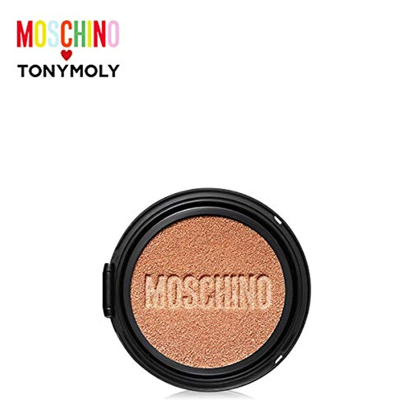 シングル廃止僕のTONYMOLY [MOSCHINO Edition] Gold Edition Chic Skin Cushion -Refill #01 CHIC VANILLA トニーモリー [モスキーノ] ゴールドエディション...