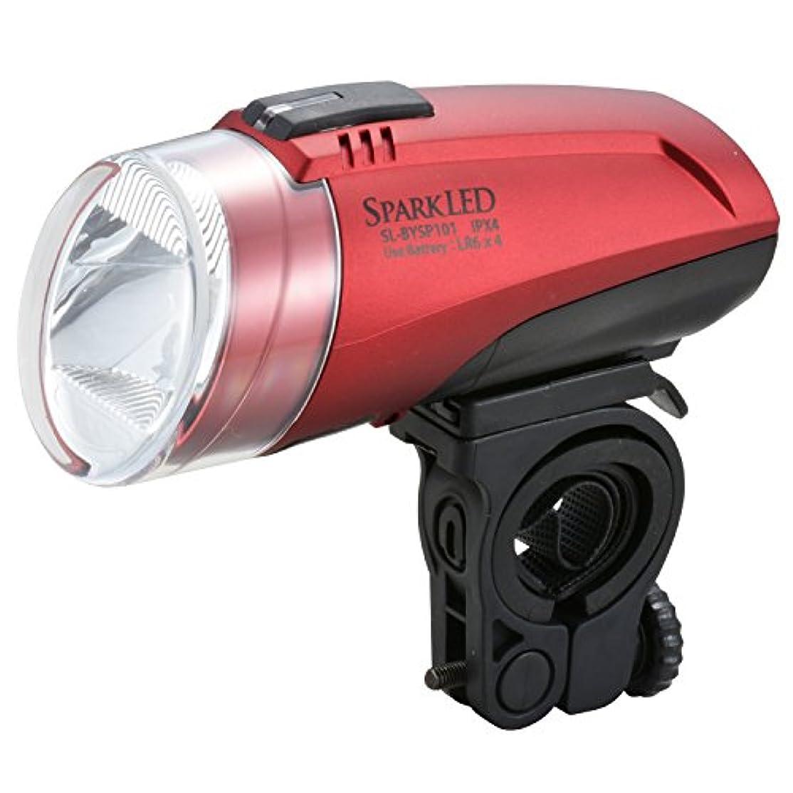 豊富処方する鎖オーム電機 LEDサイクルライト レッド   SLBYSP101R SL-BYSP101-R