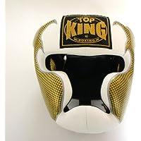 トップキング TOP KING キックボクシング ヘッドギア タトゥ 白銀 Mサイズ