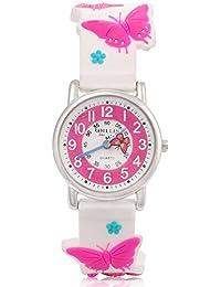 [ARIALK] キッズ 腕時計 子供用 蝶々 ウォッチ 女の子 ガールズ アナログ 時計 卒園 入学祝い (蝶々 ホワイト)